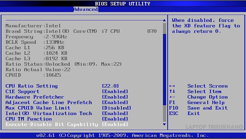 Lỗi BIOS cũng là nguyên nhân khiến laptop không lên hình