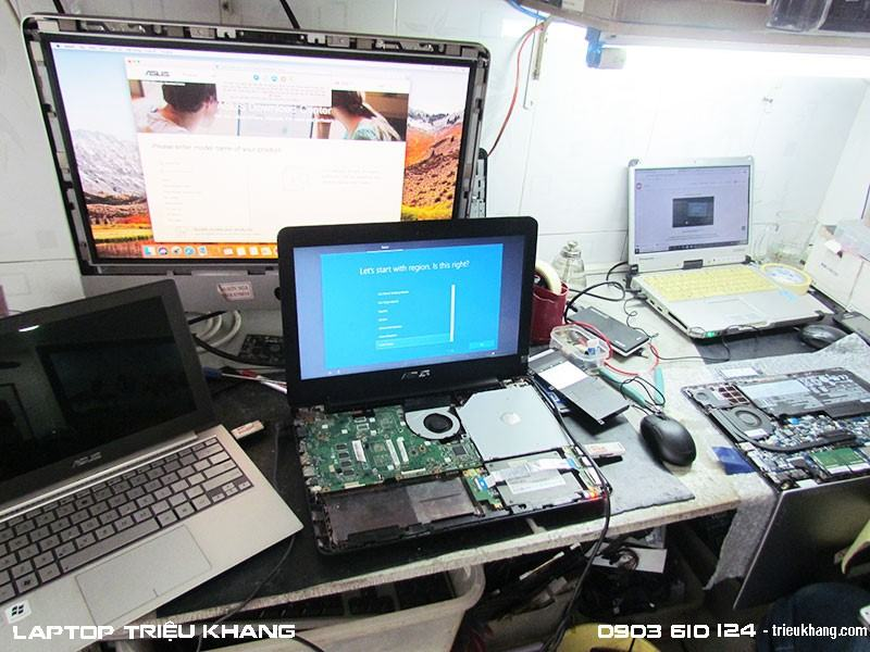 Sửa laptop mất nguồn không hình tại Tân Bình