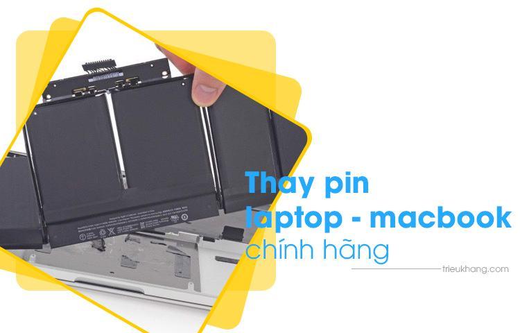 thay pin laptop pin macbook chính hãng lấy ngay