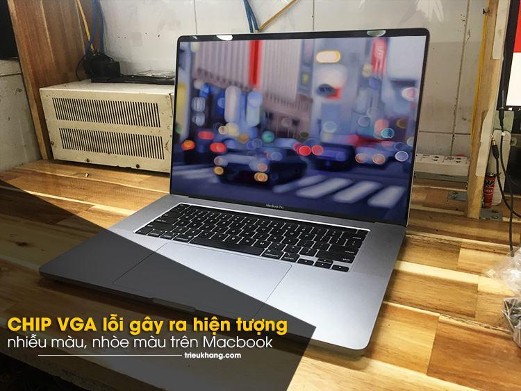 CHIP VGA lỗi khiến màn hình macbook bị nhèo hình