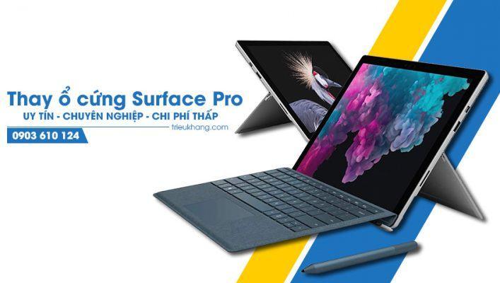 Thay ổ cứng Surface Pro uy tín tại Hồ Chí Minh